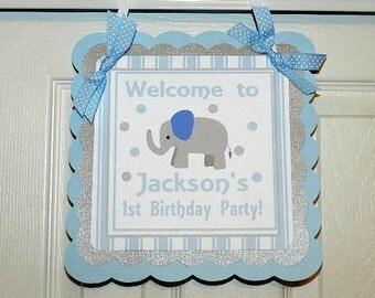 Little Peanut Birthday- Little Peanut Birthday Party- Little peanut Birthday Welcome Door Sign-Elephant Birthday Party