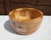 A very attractive segmented bowl made from Scottish elm and sycamore..