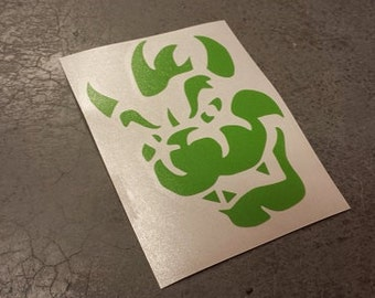 "4"" Green Bowser Decal"