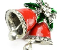 "Jingle Bell Christmas Jewelry Gift for Girl,1.57""X1.02"", PT-811"