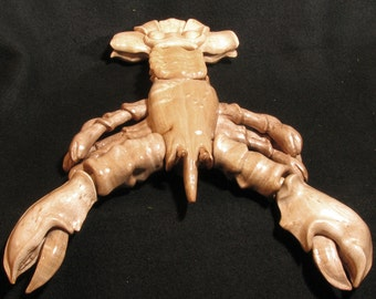 Handmade Birdseye Maple Carved Maine Lobster #8