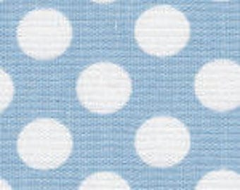 HALF YARD Blue and White Dot Fabric Finders Cotton Fabric