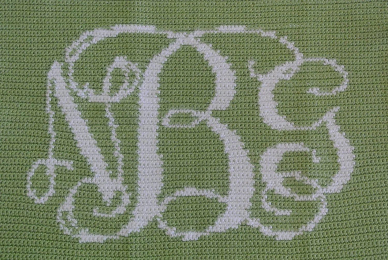 Custom Crochet Monogram Baby Blanket