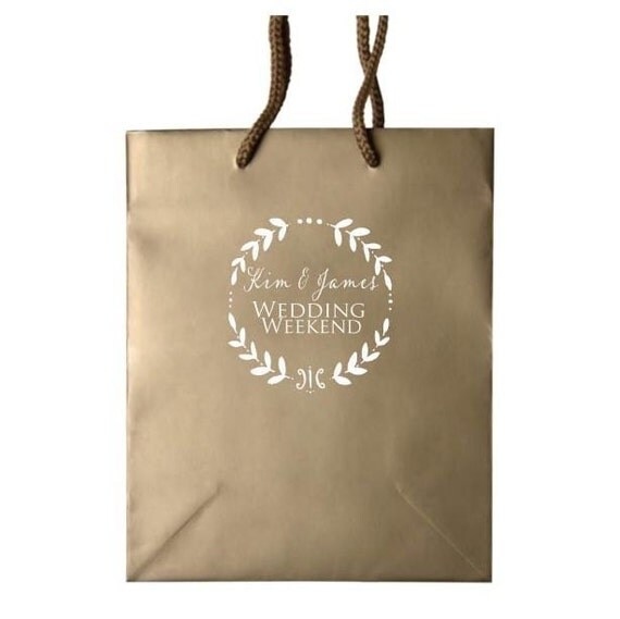 35 personalized gift bags for hotel wedding by graciousbridal With wedding hotel gift bags