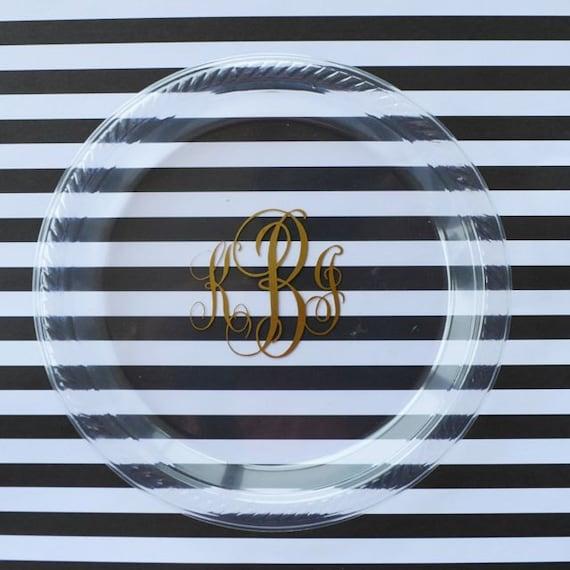 Like this item? & Personalized Monogram Plastic Plates Custom Printed Party