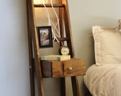 Ladder Nightstand with Drawer