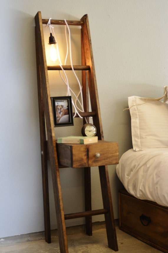 Items similar to Ladder Nightstand with Drawer on Etsy