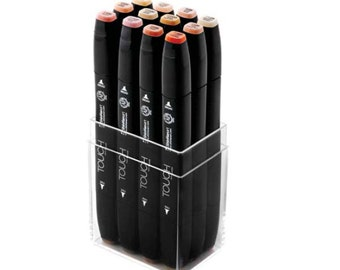 shinhan touch twin markers 12 pens skin tone colors set painters paint - Skin Color Markers