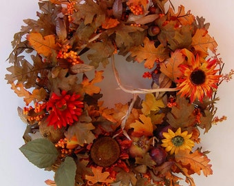 "20"" Fall Time Full Wreath"