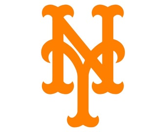 "New York Mets Cornhole Decals, 18"""