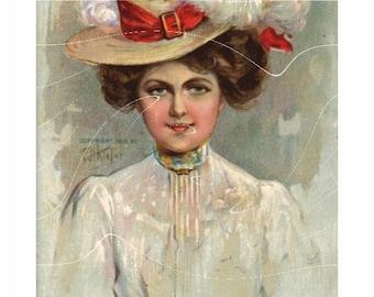 Original Vintage Post Card -  Stunning Victorian Actress Post card