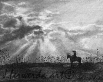 Pencil Drawing Print - Trails Of Adventure - Day 118