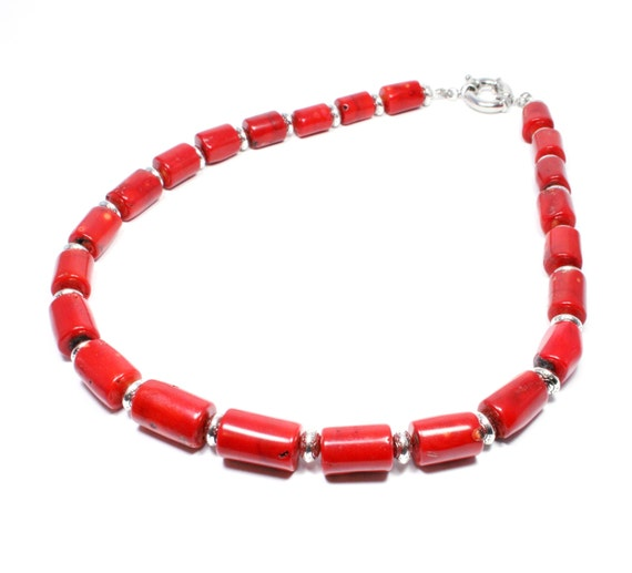 0957a2fac ... Red Coral Bells Jewelry: Red Coral Necklace Coral Jewelry Coral  Statement Necklace