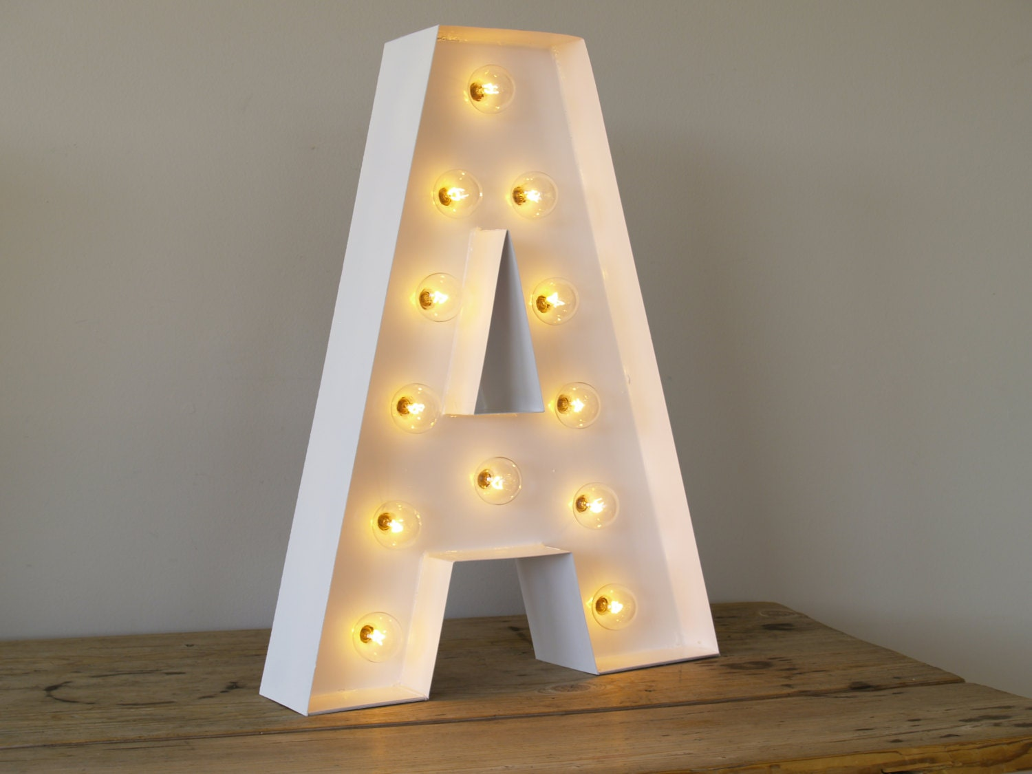 Hollywood Letter A with Lights : Carnival by CarnivalLetters