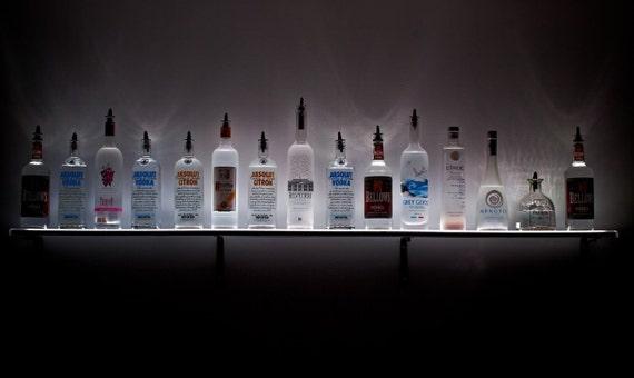 94 wall mount led lighted liquor shelves wall mount. Black Bedroom Furniture Sets. Home Design Ideas