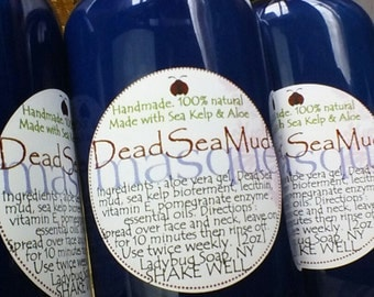 Face Masque with Dead Sea Mineral Mud 2oz  made by eczema sufferer -  storewide flat rate ship US only