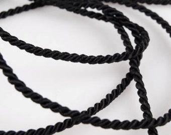 5 meter cord, black, 2.8 mm (1345)