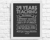 Customizable Teacher Retirement Gift  -  Teacher Stats- A Teacher Affects Eternity, She Can Never Tell Where Her Influence Stops