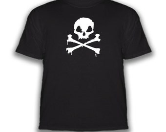 Free Shipping - Skull & Crossbones - T-Shirt - Choice Of Colors