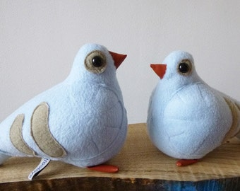 instant PDF pigeon couple, amsterdam pigeons, soft toy, soft pigeon
