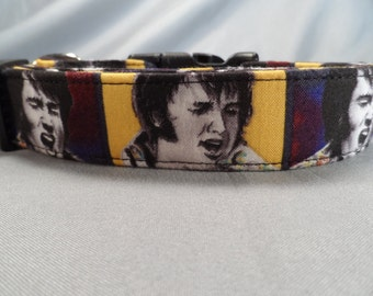 Yellow Elvis Dog Collar