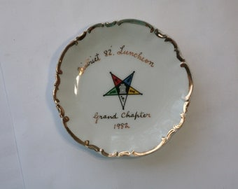 1982 Order of the Eastern Star District 82 Luncheon Plate