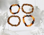 Lot of 4 Baltic Amber Stretch Bracelets (id 24)