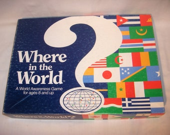 WHERE in the WORLD GAME by Aristoplay A Game of World Awareness 1986