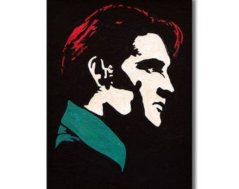 Elvis Presley  RETRO -  Wall Art Giclee Canvas Paint,Painting, Poster,Print- Great Rock'n'Roll Home Decor
