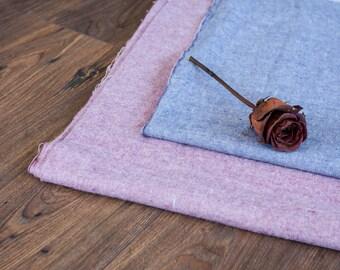 Cotton Fabric Yardage, Vintage Cotton Fabric, By the Yard Fabric - Blue Purple, Rose