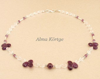 Necklace glass beads necklace Amethyst