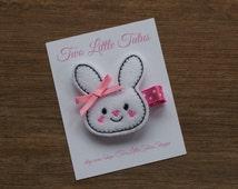 Easter Hair Clip - Sweet Bunny Hair Clip - Felt Hair Clip - Bunny Hair Clip