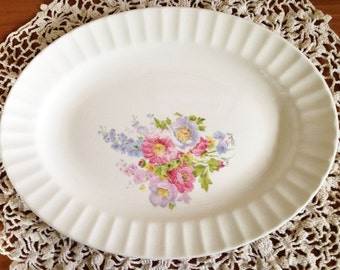 Antique Knowles Floral Platter