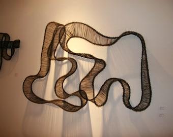 Large Modern Fine Art Metal Wall Sculpture - Beautiful Shadows