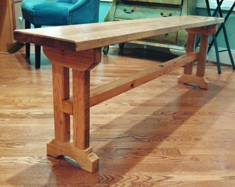Quad Leg Dining Bench Reclaimed Banwood