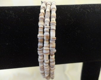 Memory Wire Bracelet-Multi Colored shell