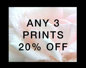 Choose any Three fine art prints - 20% Discount
