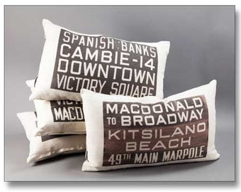 Museum of Vancouver City Bus Scroll Pillows