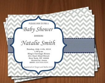 Baby Shower Invitation Boy Baby Shower invitations Printable Baby Shower Invites -FREE Thank You Card - editable pdf Download (592) blue