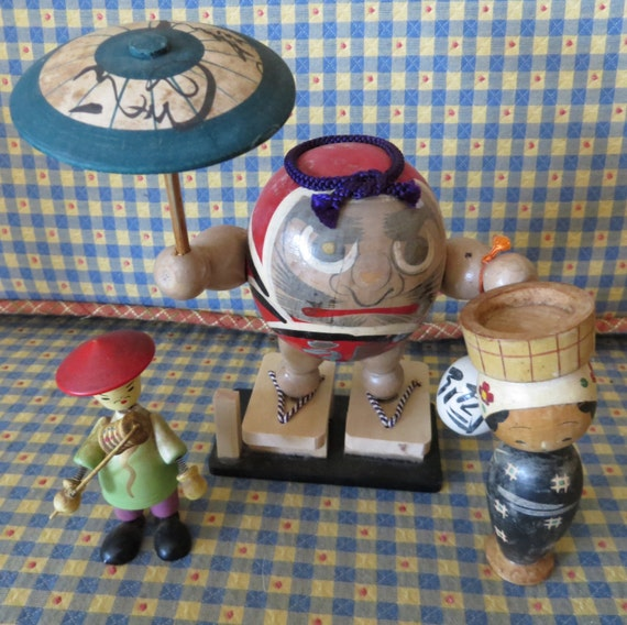 Japanese Wooden Toys : Vintage japanese wooden toys