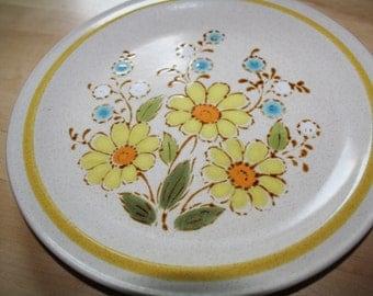 Vintage SHASTA PLATE Dinner Plate International Statastone Flower Plate Floral Plate