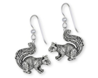 Silver Squirrel Earrings Jewelry -  SQ1-E