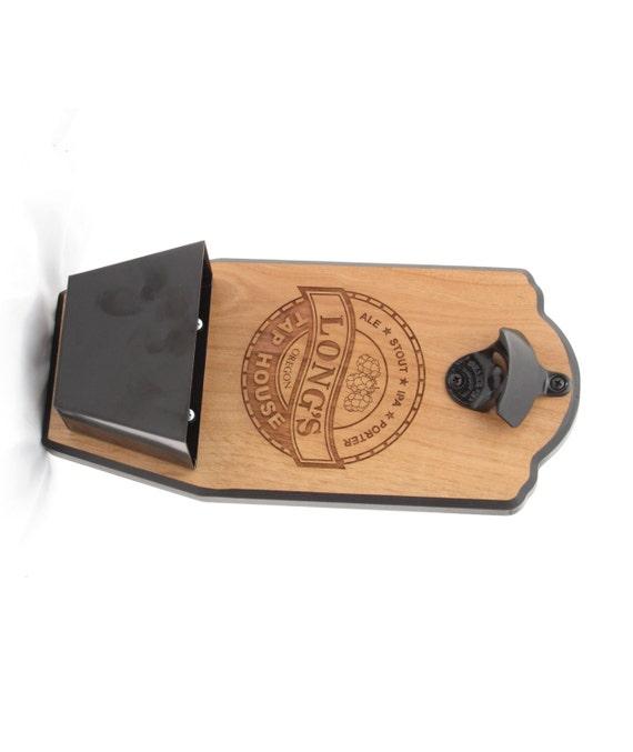 Personalized wall mount bottle opener tap house edition - Personalized wall mount bottle opener ...
