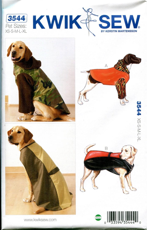 Dog coat pattern xsmall small medium large x large full length pet pet craft sewing patterns uncut sold by designrewindfashions jeuxipadfo Image collections