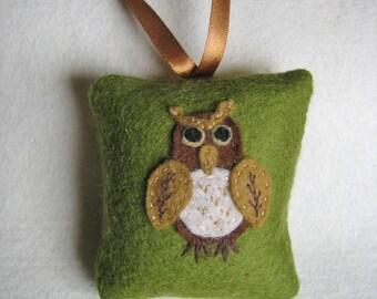 felt owl pincushion