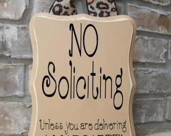 No Soliciting Sign Margarita