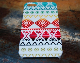 Bright Color Indian Tribal Case For iPhone 6 / (4.7) / 4.7 / 5c / 5s / 5 / 4s / 4 Pattern Cover Aztec Tribe Print Cases Printed In USA c20