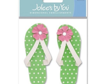 New - Scrapbooking Dimensional  Stickers by  Jolees Boutique flip flops