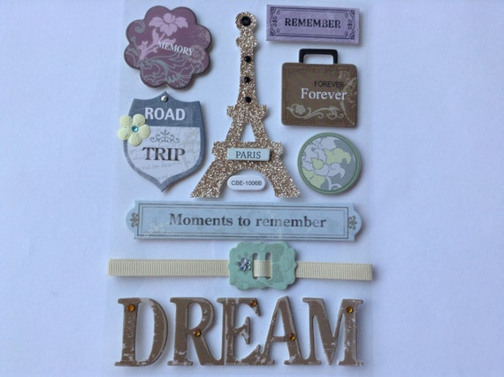 New rare scrapbooking dimensional glitter stickers similar - Scrapbooking paris boutique ...