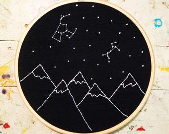 Constellations (Hoop Art Stitchy)